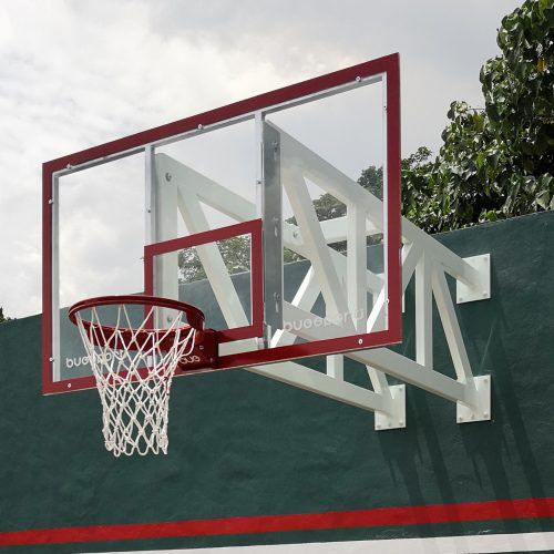 Basketball Post Wall Mounted System