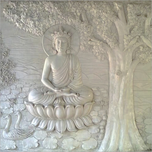Budh Embossed Wall Mural