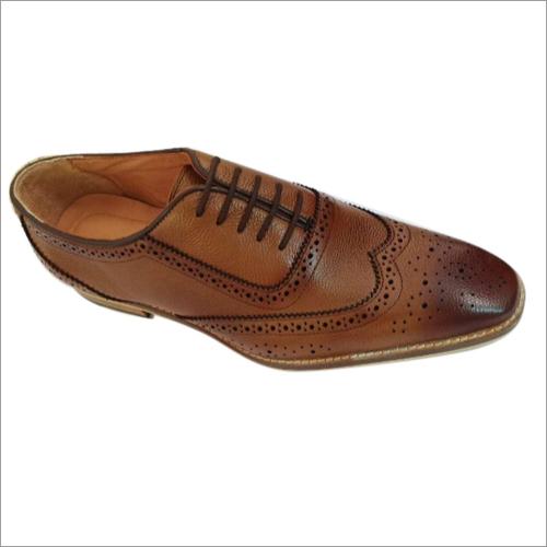 Black T Shape Brogue Shoes