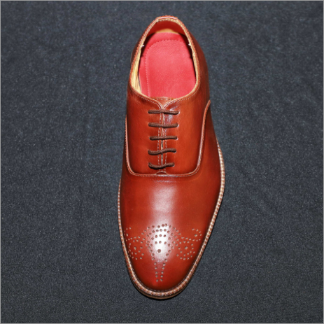 Medallion Toe Oxford Derby Shoes