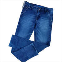 Mens Plain Blue Denim Jeans
