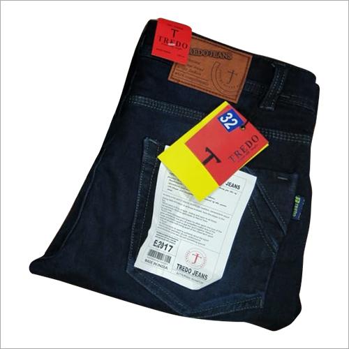Mens Plain Blue Denim Jeans