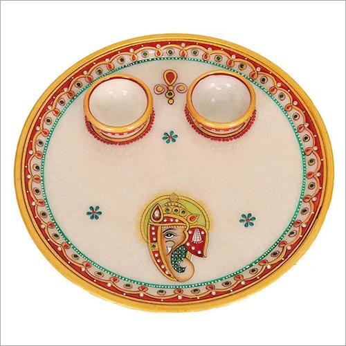 Multi Marble Pooja Thali
