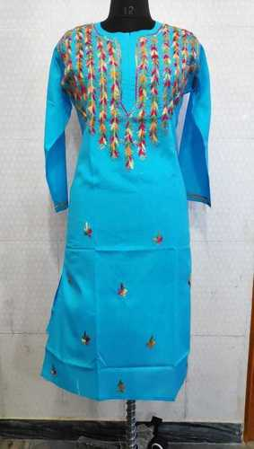 Ladies Cotton Chikankari Long Kurti