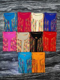 Ladies Cotton Chikankari Long Kurti