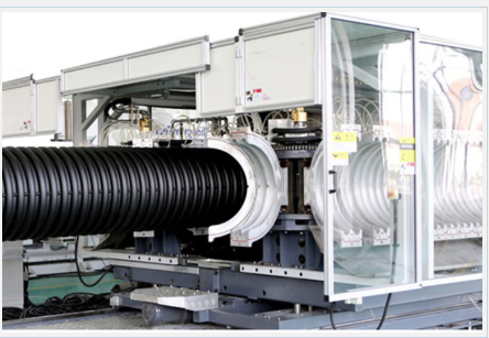 110 mm - 250 mm double wall corrugated pipe making machine with cast aluminum mold
