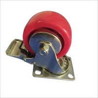 75x28 MM Polyurethane Red Wheel