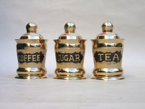 Brass Tea Sugar Coffee Jars