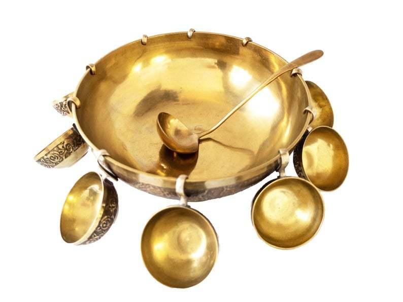 Brass Punch Bowl Set