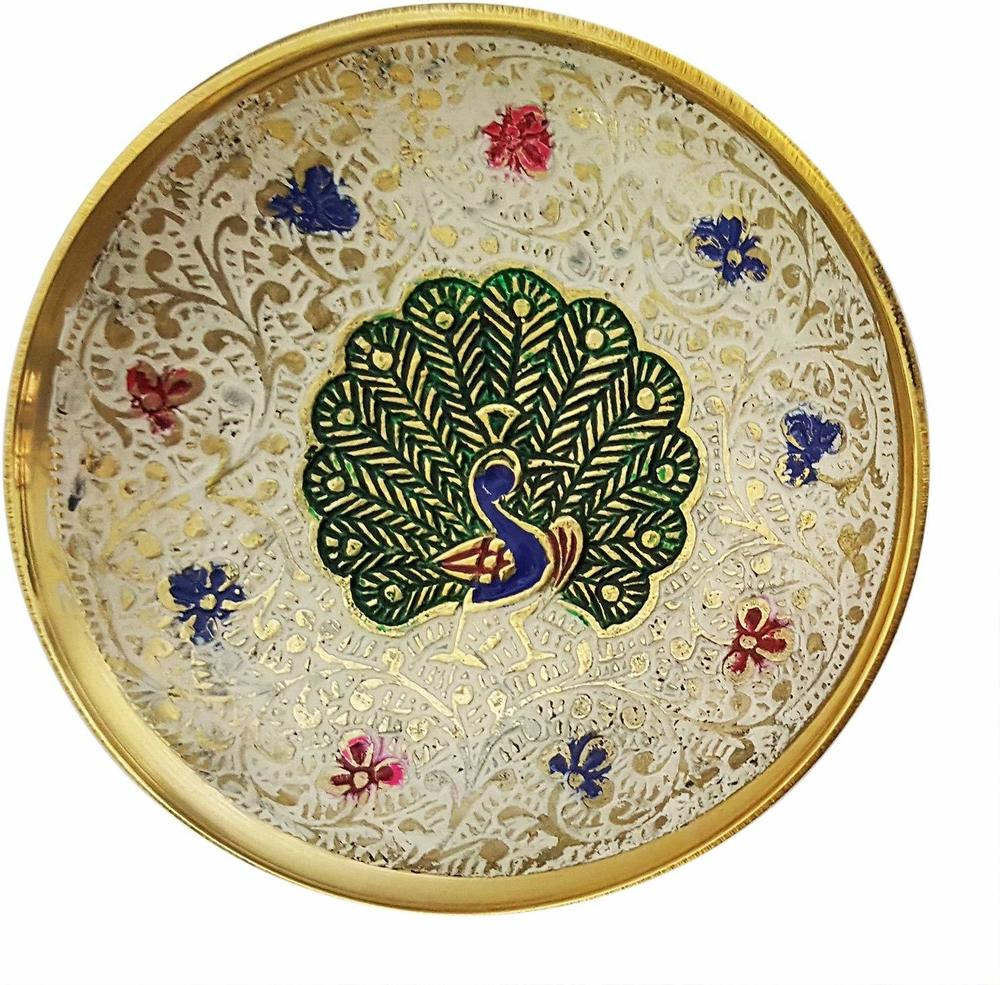 Brass Decorative Bowl Enamel