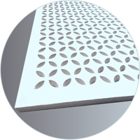 Gypsum Perforated Acoustic Panel - PETALS perforation