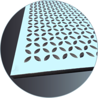 PERFONA G - Gypsum Perforated Acoustic Panel - PETALS Perforation