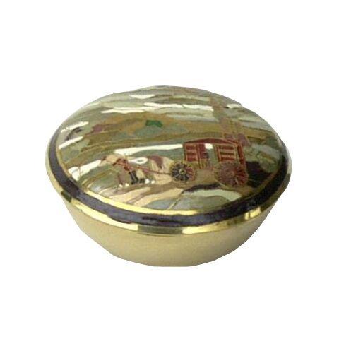 Brass Round Lidded Box
