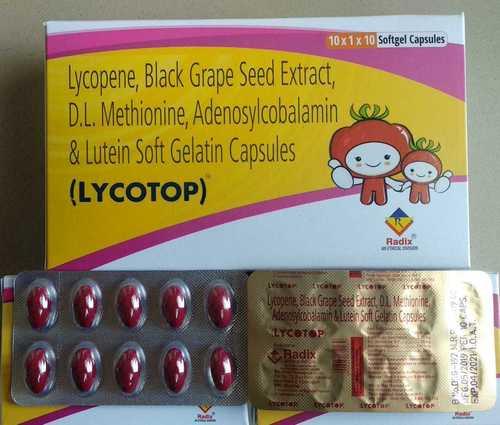 Antioxidant Capsule (Lycopene,Black Grape Seed Extract,D.L.Methionine,Adenosylcobalamin,Lutein)