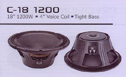 C18 1200 Tight Bass Speaker