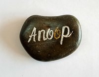 Customized Natural River Pebbles Engraved with Your Name