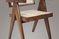 Pierre Jeanneret Le Corbusier Floating Back Dining Room Chair Antique Aged Finish