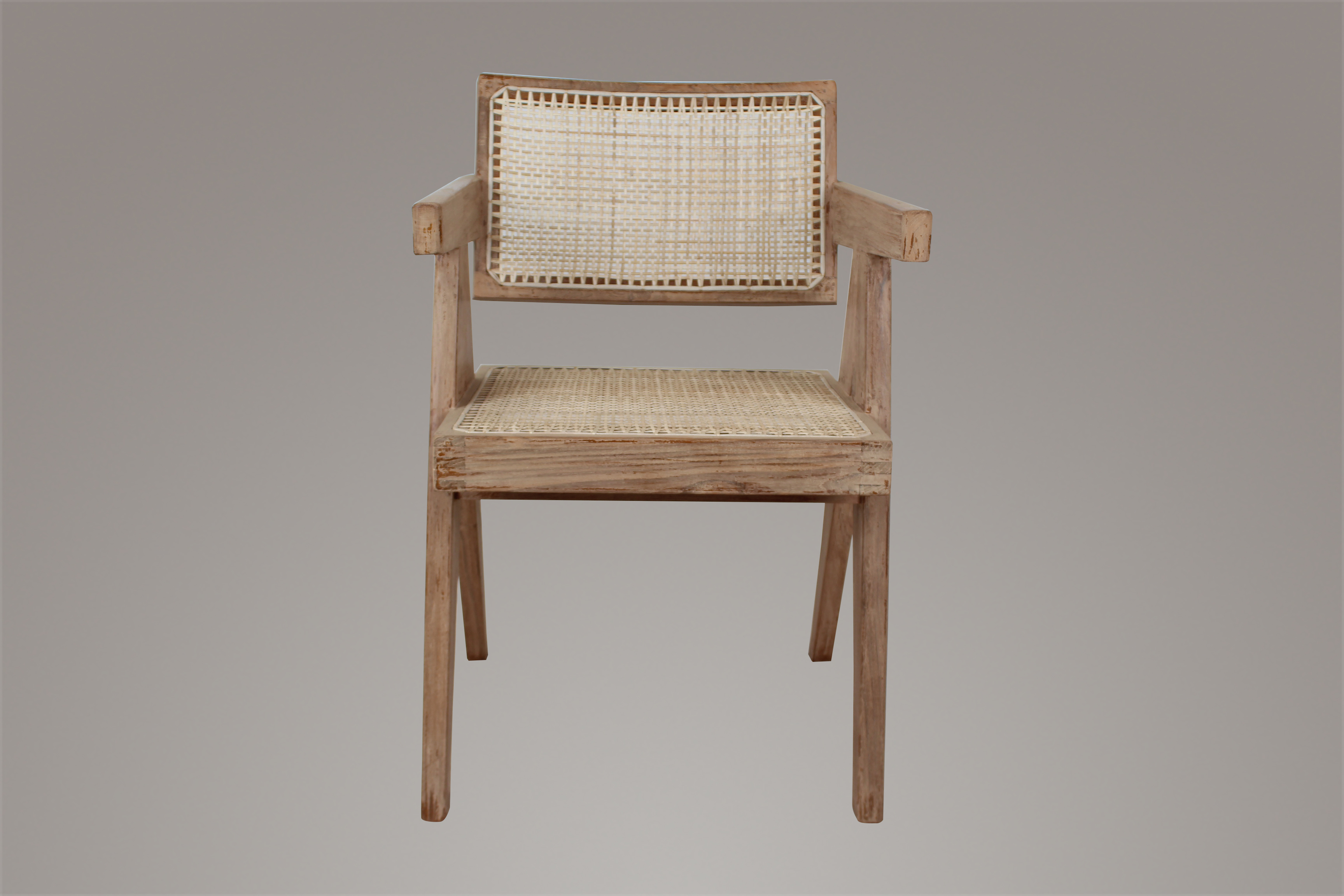 Pierre Jeanneret Dining Room Chair in Weather Beaten Finish
