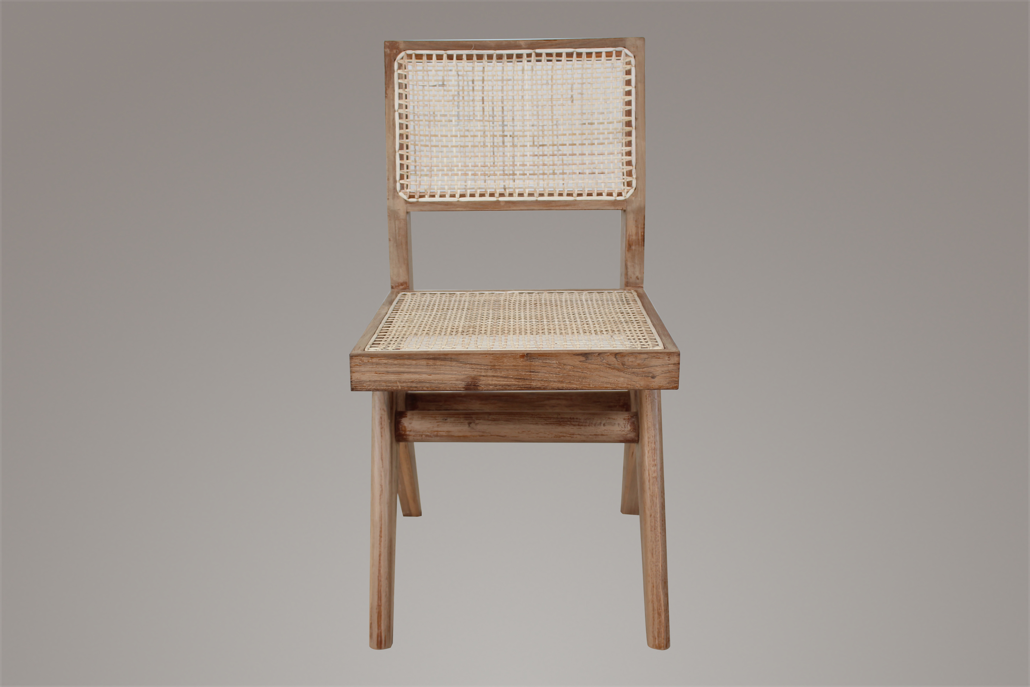Pierre Jeanneret Armless Dining Chair Weather Beaten Finish
