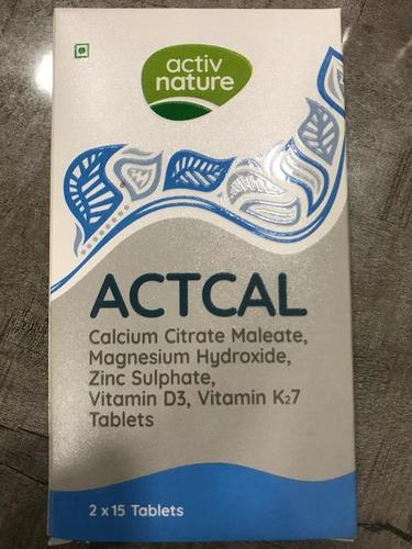 calcium citrate maleate, magnesium hydroxide, zinc sulphate, vitamin d3, vitamin K