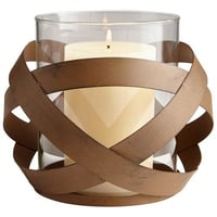 Iron and Glass Hurricane Votives Candle holder
