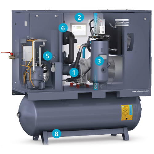 GA 15-22 Oil-Injected Rotary Screw Compressor