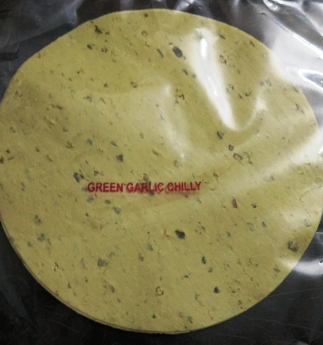 Green Garlic Chilli Papad