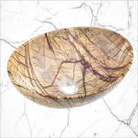 Printed Marble Table Top Wash Basin