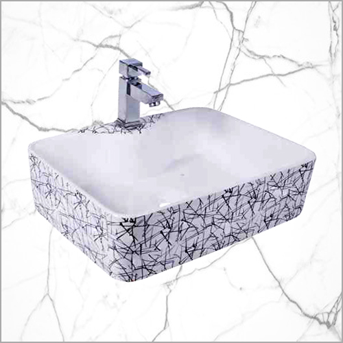 Fancy Table Top Washing Basin With Tap Hole