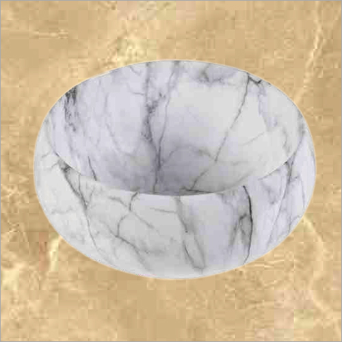 Round shape White Table Top Basin