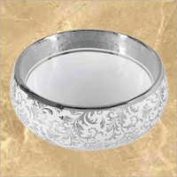 Designer Silver Printed Basin
