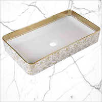 Rectangular Table Top Designer Basin