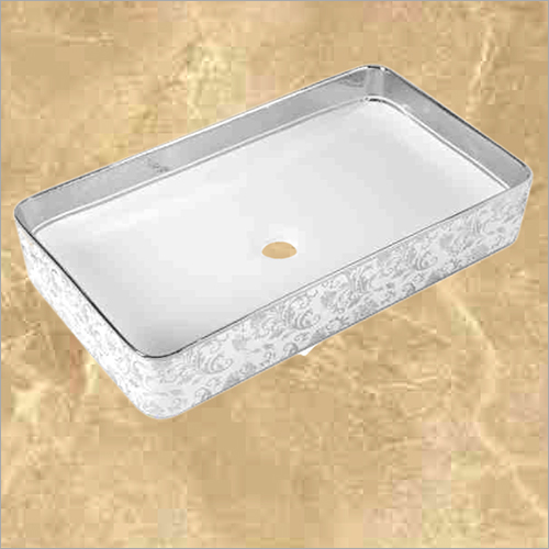 Silver Printed  Designer Table Top Wash Basin