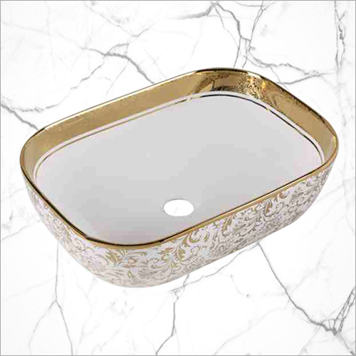 Gold and Silver Printed Basin