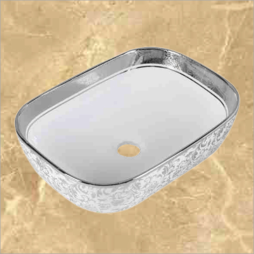 Silver And Gold Designer Wash Basin