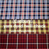 Cadbury yarn dyed twill check