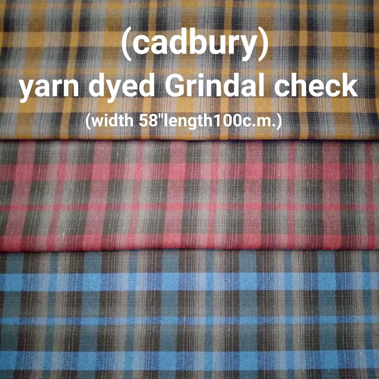 Cadbury yarn dyed twill check