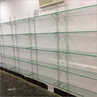Glass Display Wall Rack