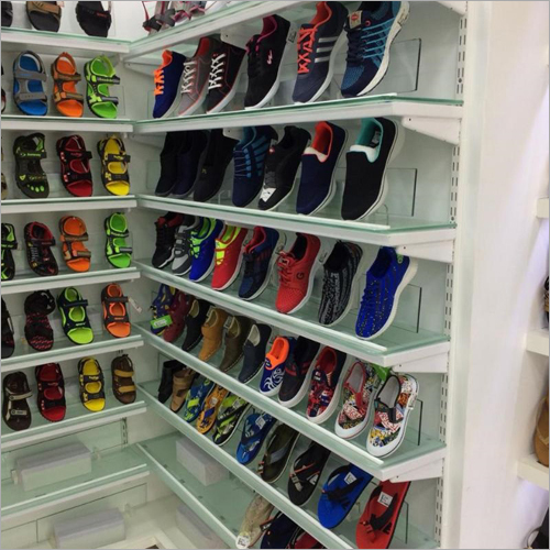 Glass Display Shoes Rack