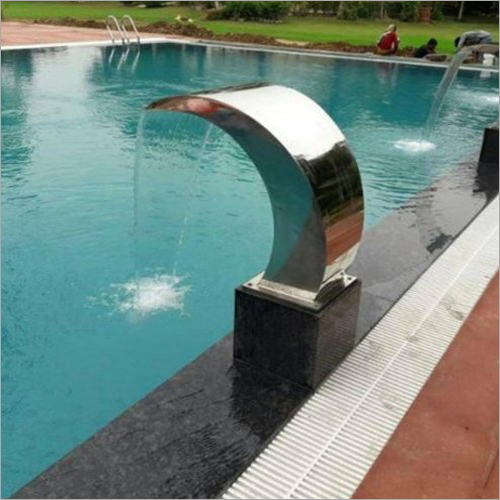 Outdoor Swimming Pool Waterfall