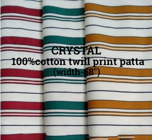 crystal 100% cotton twill print patta