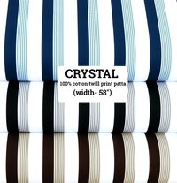 crystal 100% cotton twill print patta