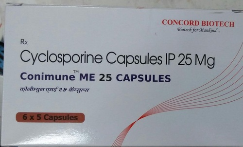 Cyclosporine Capsules IP 25 mg