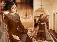 Embroidered Pakistani Salwar Suit, Heavy Work Plazzo Suit