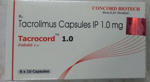 Tacrolimus Capsules IP 1.0 mg