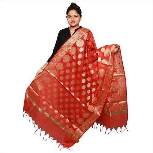 Red Banarasi Dupatta