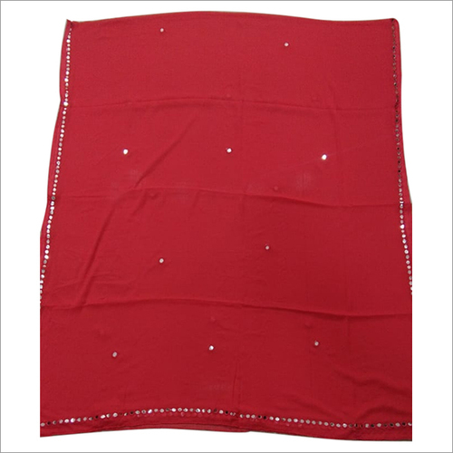 Red color Chiffon Dupatta
