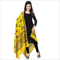 Cotton Mirror Work Dupatta