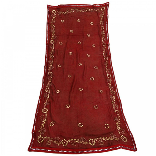 Red Silk Dupatta