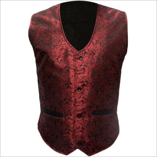 Mens Dark Red Waistcoat